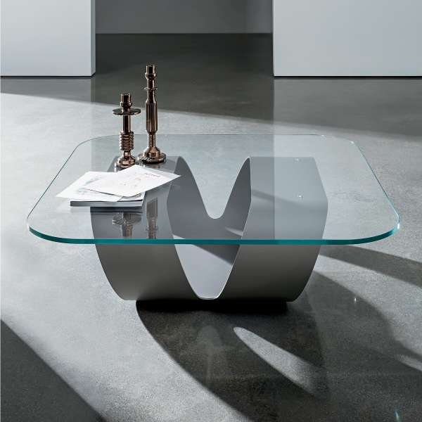 Table basse design en verre - Ring - 1