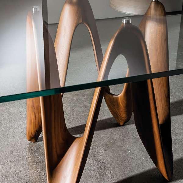 Table en verre design carrée 140 x 140 cm - Lambda Sovet® 9 - 6