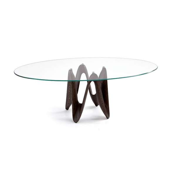 Table ovale design en verre - Lambda Sovet®  - 1