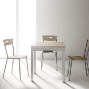 Table petit espace extensible en verre - Domino 5