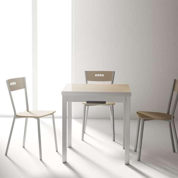 Table petit espace extensible en verre - Domino 5 - 7