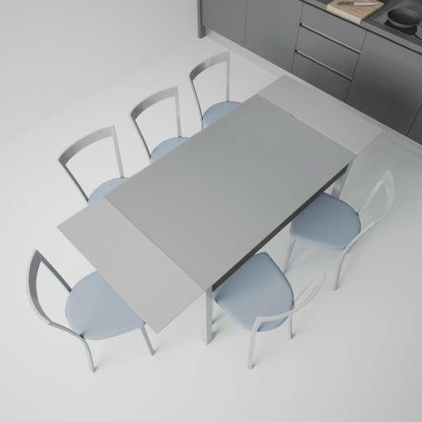Table de cuisine en verre extensible avec tiroir - Camel - 3