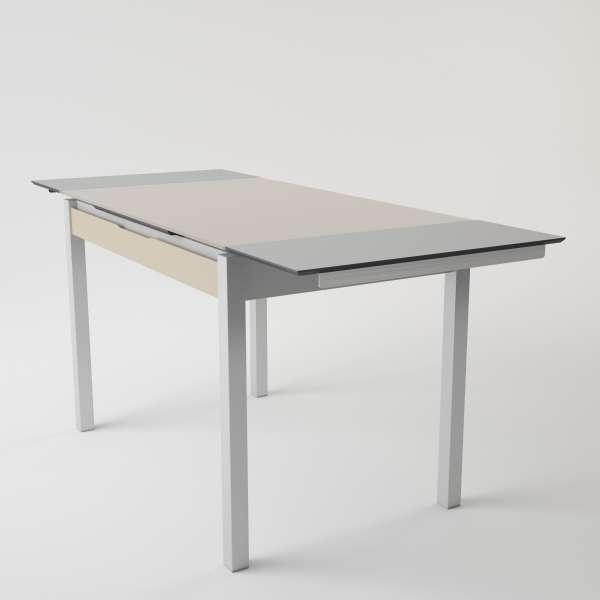 Table de cuisine en verre extensible avec tiroir - Camel 2 - 4