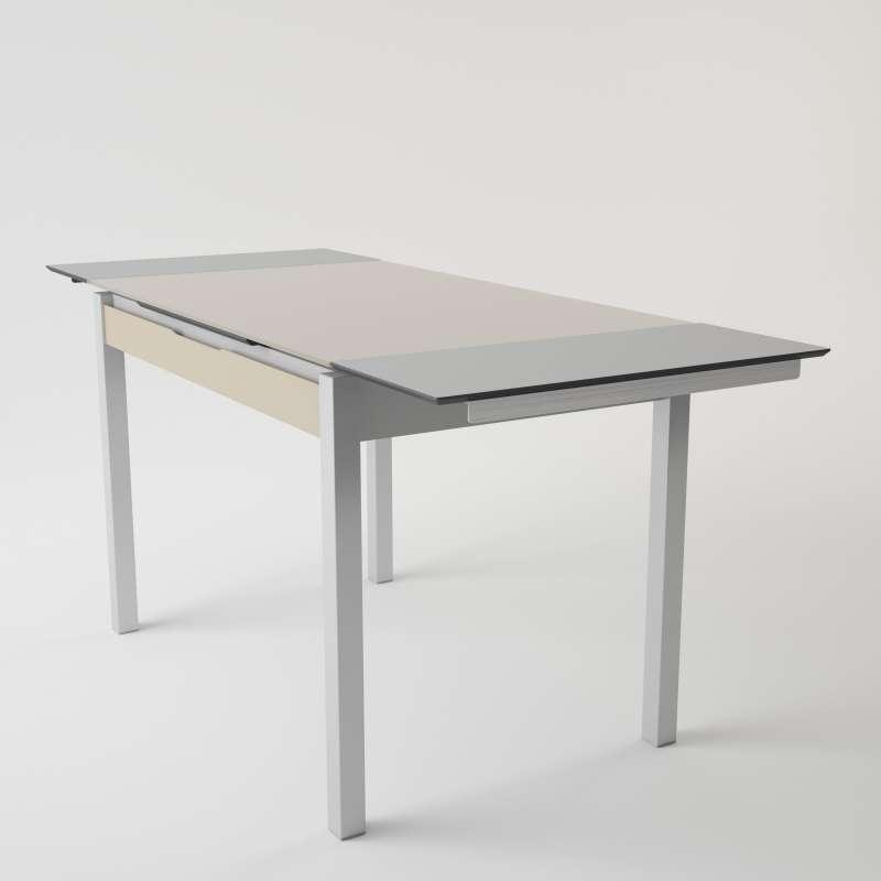 f1faae0034cd8 ... Table de cuisine en verre extensible avec tiroir - Camel 2 - 4 ...