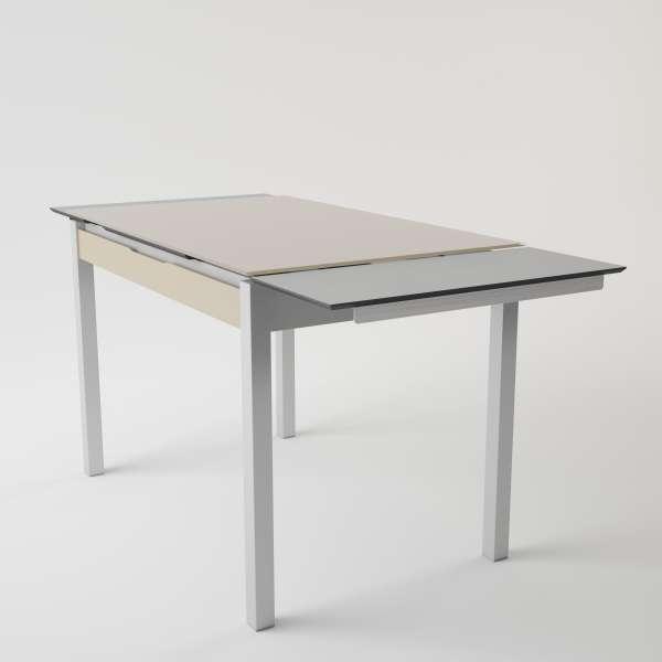 Table de cuisine en verre extensible avec tiroir - Camel 4 - 6