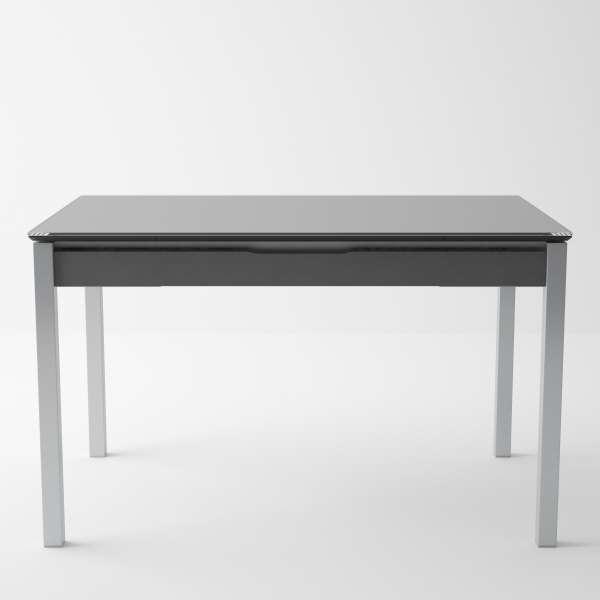 Table de cuisine en verre extensible avec tiroir - Camel 5 - 7