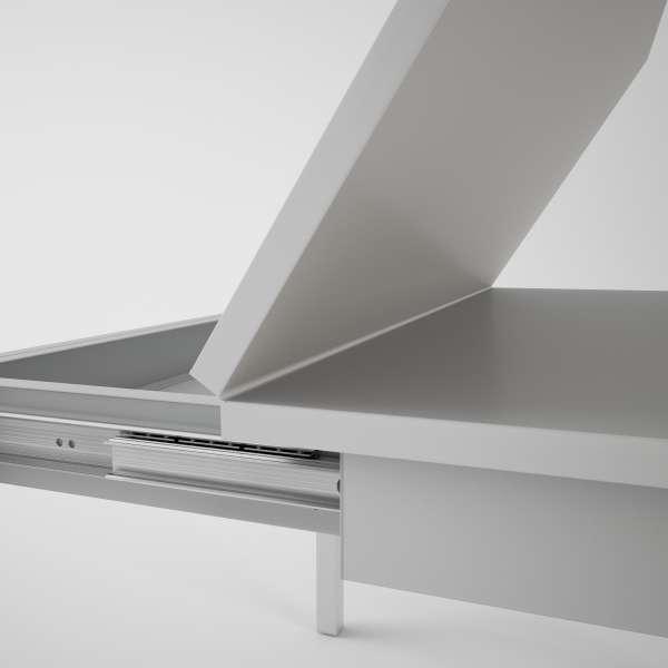 Table petit espace extensible en verre - Domino 6 - 10