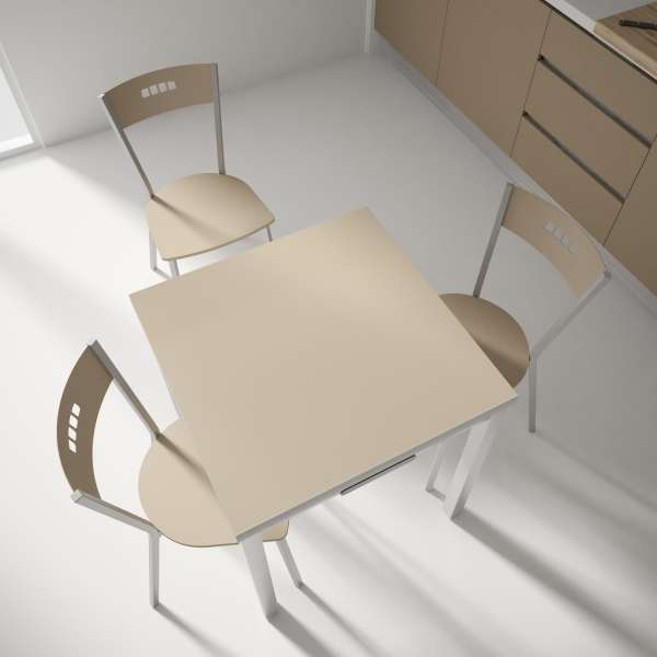 Table petit espace extensible en verre - Domino 9 - 8