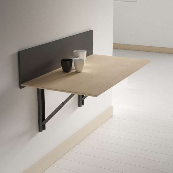 Table pliante murale contemporaine click 4 - Table de cuisine amovible ...