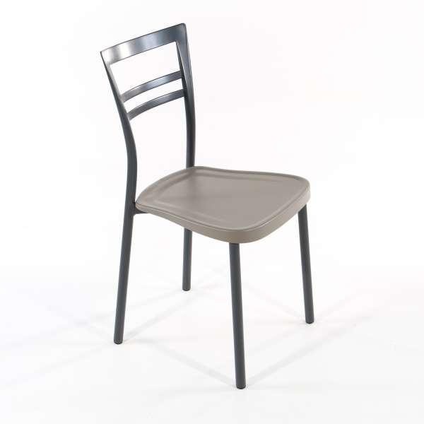 Chaise de cuisine en polypropylène et métal - Go 1419 - 1
