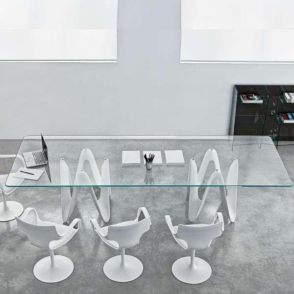 Table de salle à manger design en verre - 320 x 120 cm - Lambda Sovet® - 1