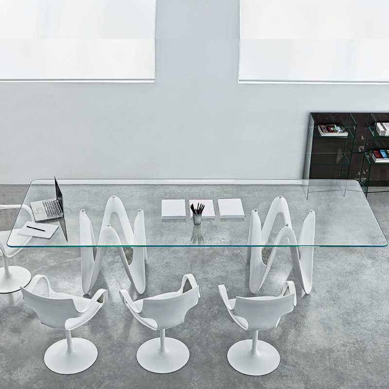Table De Salle A Manger Design En Verre 320 X 120 Cm Lambda