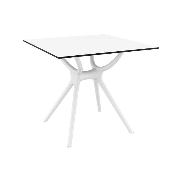 Table carrée petit espace en stratifié et polypropylène - Air 5 - 8