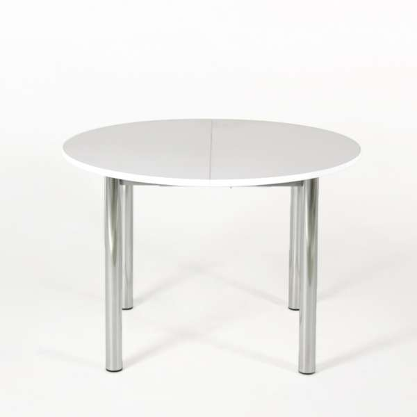 Table de cuisine ronde extensible en stratifié - Lustra - 1