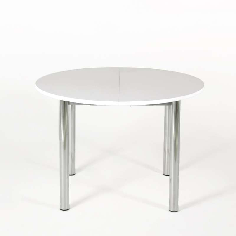 Table De Cuisine Ronde Extensible En Stratifié Lustra 4 Piedscom
