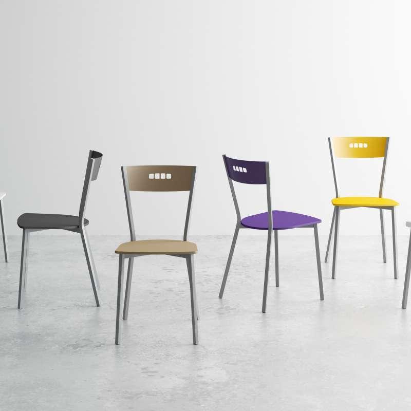Chaise de cuisine moderne en bois et métal - Versus