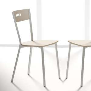 Chaise de cuisine contemporaine en tissu et métal - Versus