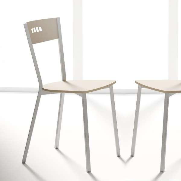 Chaise de cuisine contemporaine en tissu et métal - Versus - 1