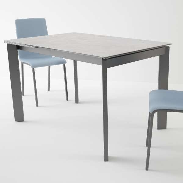 Table petit espace extensible en céramique - Poker 2 - 6