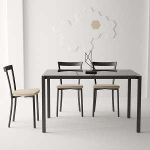 Table moderne petit espace en verre et métal - Logic