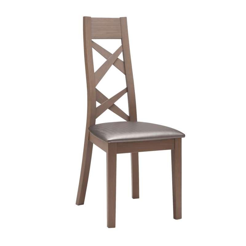 Chaise de salle à manger contemporaine en bois et synthétique Kassy