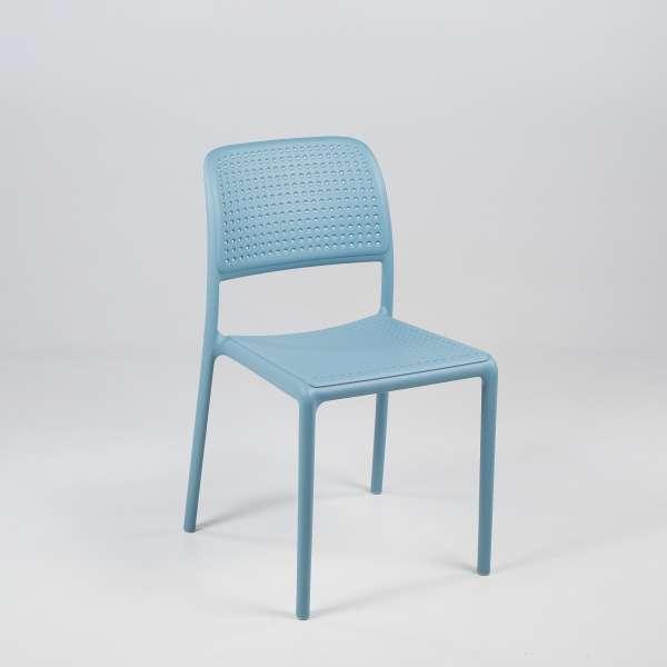 Chaise en polypropylène bleu - Bora Bistrot - 5