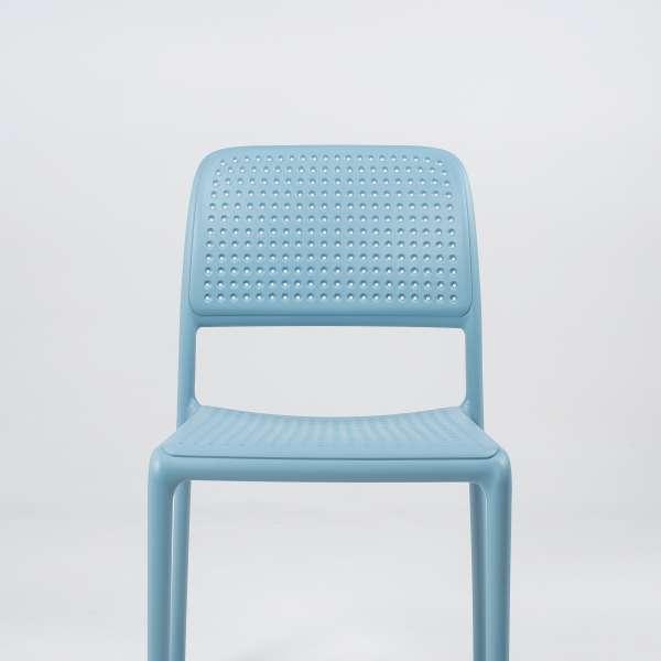 Chaise en polypropylène bleu - Bora Bistrot - 6