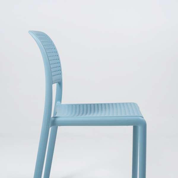 Chaise en polypropylène bleu - Bora Bistrot - 7