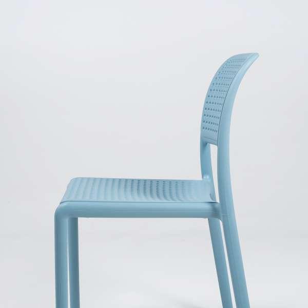 Chaise en polypropylène bleu - Bora Bistrot - 8