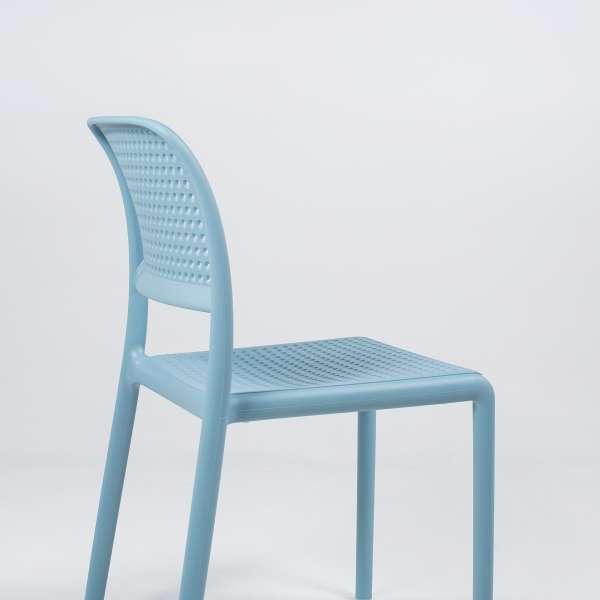 Chaise en polypropylène bleu - Bora Bistrot - 9