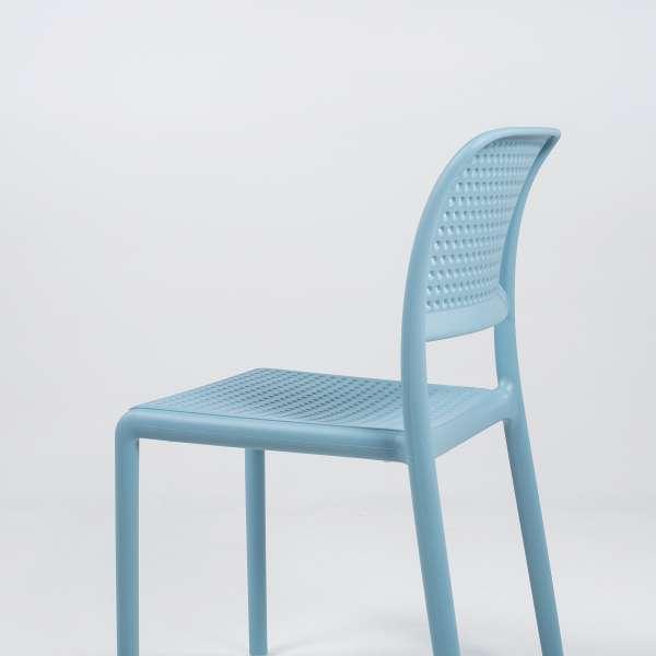 Chaise en polypropylène bleu - Bora Bistrot - 10
