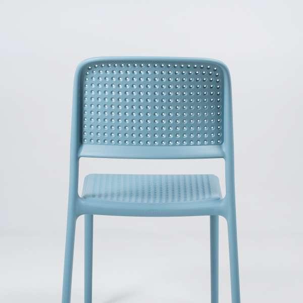 Chaise en polypropylène bleu - Bora Bistrot - 11