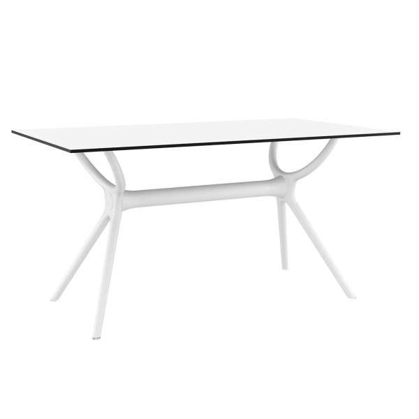 Table de terrasse rectangulaire en stratifié et polypropylène - Air 3 - 3