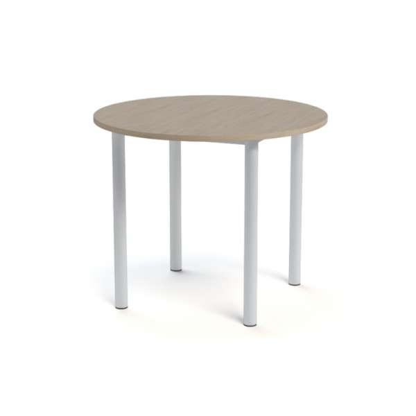 Table snack de cuisine ronde en stratifié - Lustra 6 - 8