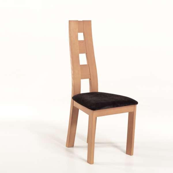 Chaise de séjour de fabrication française tissu et bois -  Ambre