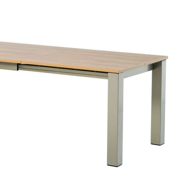 Table de cuisine rectangle extensible en stratifié - Vario 2 - 4