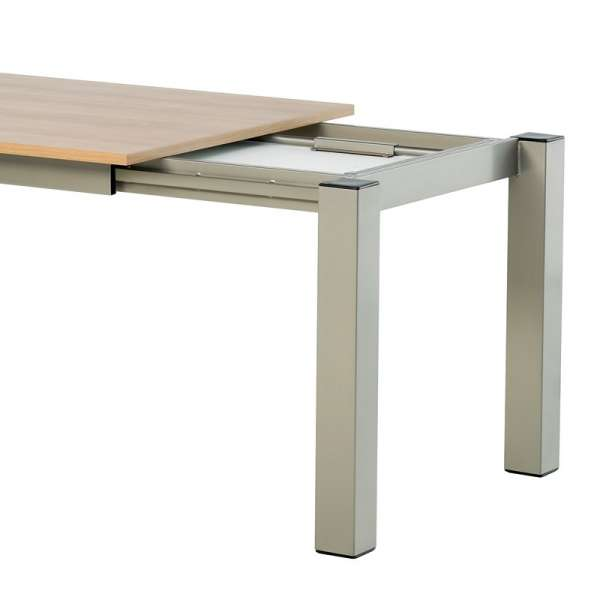 Table de cuisine rectangle extensible en stratifié - Vario 3 - 5