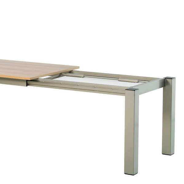 Table de cuisine rectangle extensible en stratifié - Vario 4 - 6
