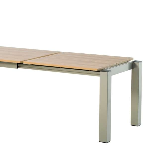 Table de cuisine rectangle extensible en stratifié - Vario 6 - 8