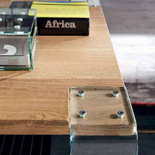 Table design en bois massif et verre - Siviglia 2 - 2