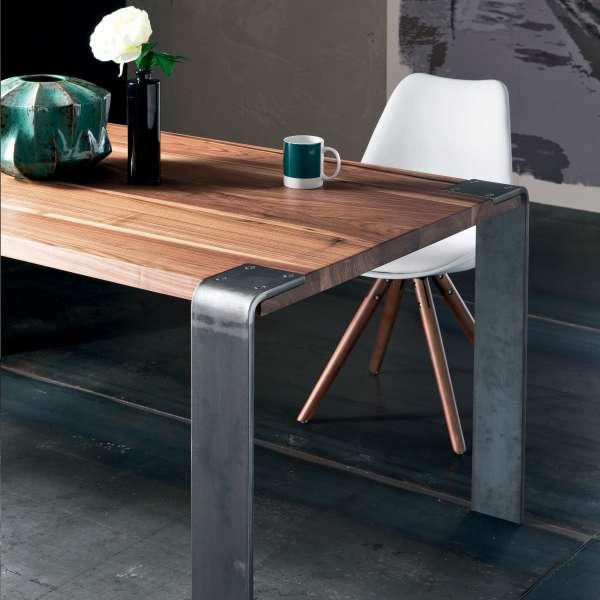 Table industrielle en bois massif et métal - Siviglia - 2