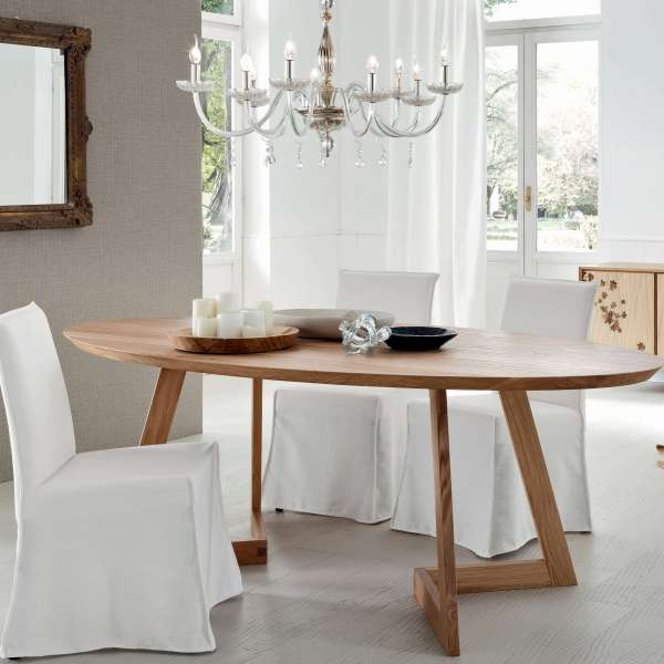 Table design ovale en bois massif - Toledo Seven 2 - 2