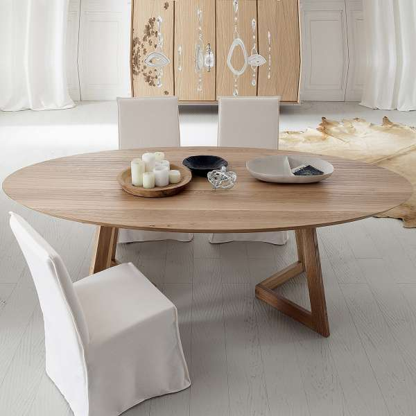 Table Design Ovale En Bois Massif   Toledo Seven