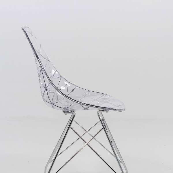 Chaise avec pieds eiffel transparente - Prisma - 4