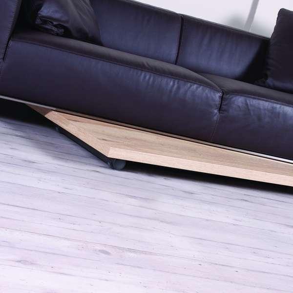 Table basse relevable en mélaminé chêne naturel N20 pieds graphite 11 - Géniale 3 - 7