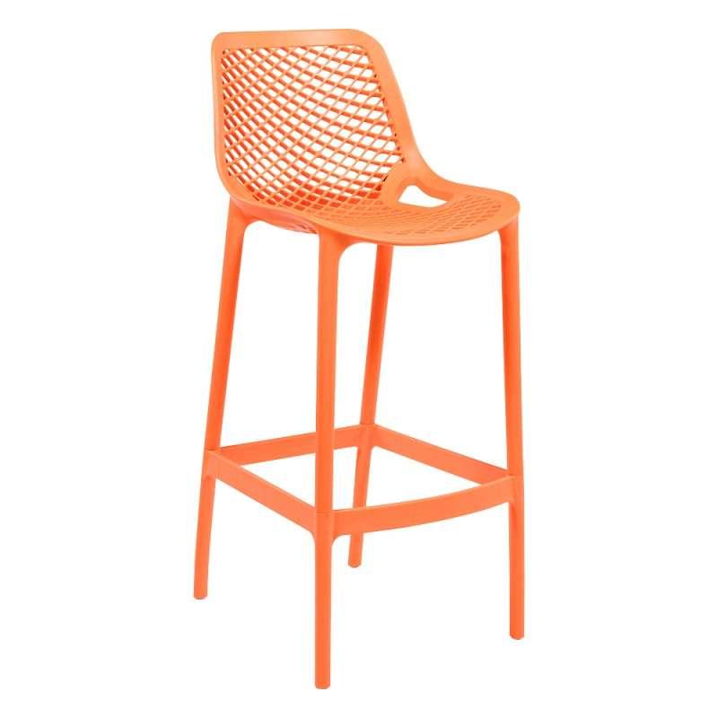Tabouret De Bar Moderne En Polypropylene Orange