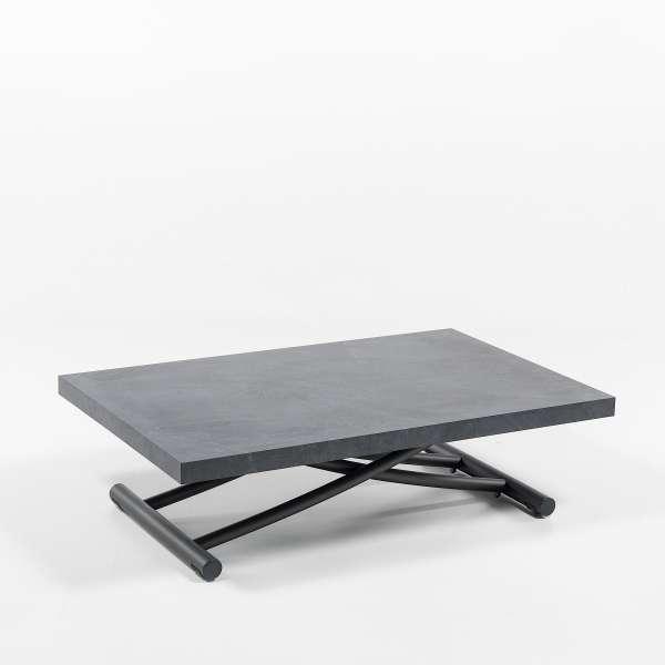 Table basse relevable en mélaminé ardoise N24 - Géniale 3 - 14