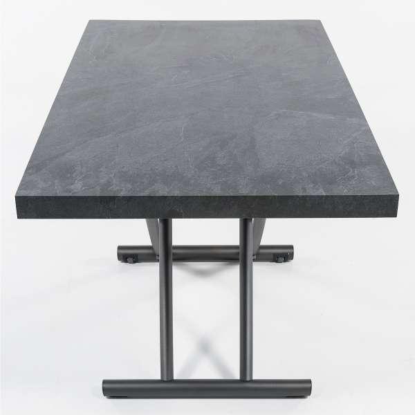 Table basse relevable en mélaminé ardoise N24 - Géniale 4 - 15