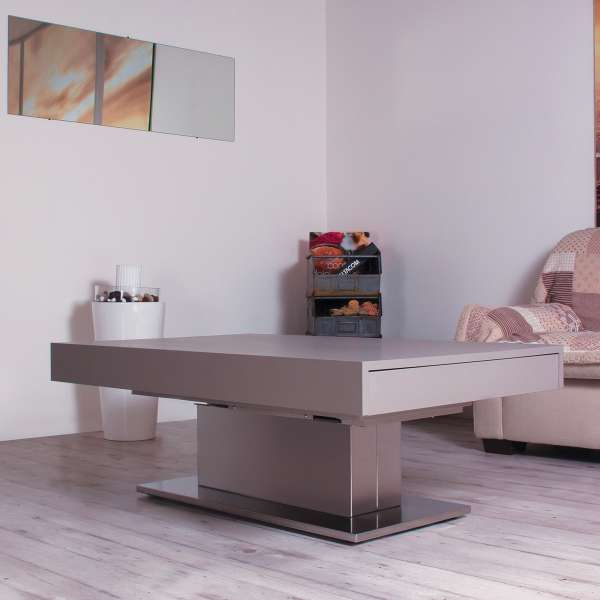 Table basse modulable extensible en bois - Ares Motorius - 1