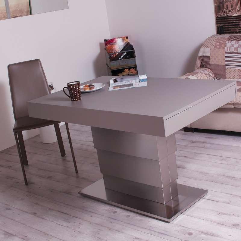 Table Modulable Extensible Reglable En Hauteur En Bois Et Metal